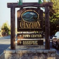 Clayton Welcome Sign